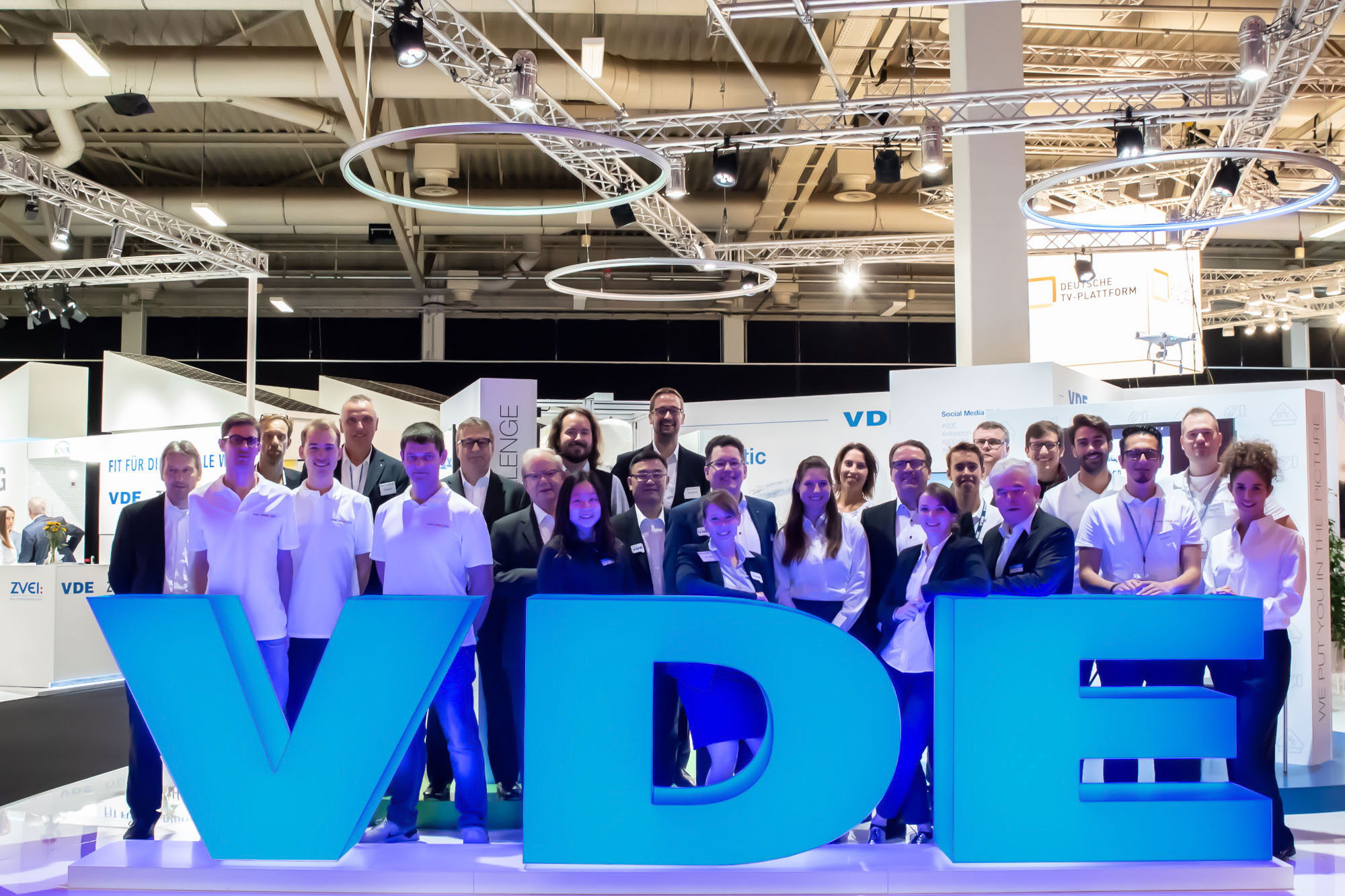 The VDE team was available to answer questions at the IFA